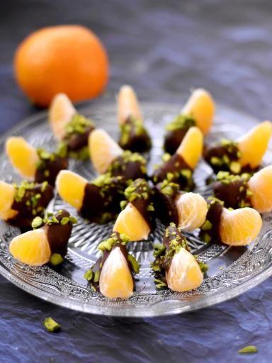 Clémentines chocolat pistache - Recette de cuisine Marmiton : une recette