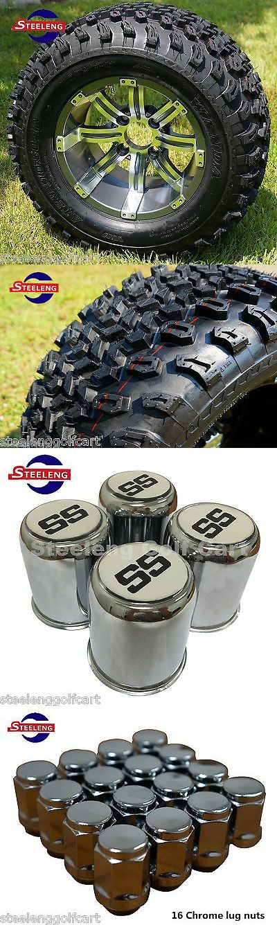 Other Golf Accessories 1514: Golf Cart 12 Gunmetal Tempest Aluminum Wheels And 23 At Tires (Set Of 4) -> BUY IT NOW ONLY: $519 on eBay!