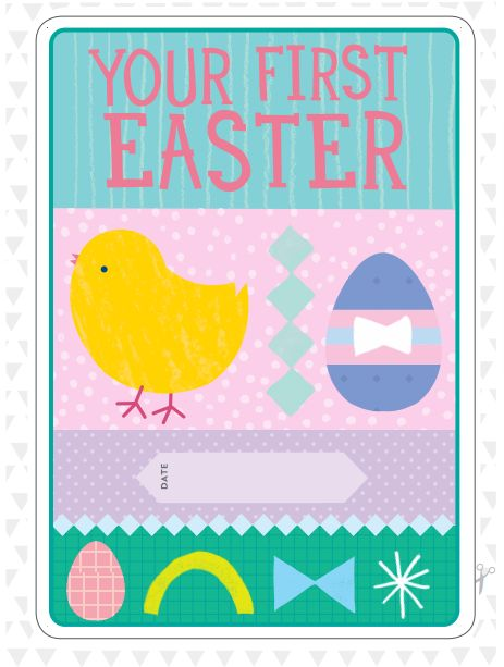 Happy Easter! Free Printable: http://www.milestonecards.com/category/blog/.