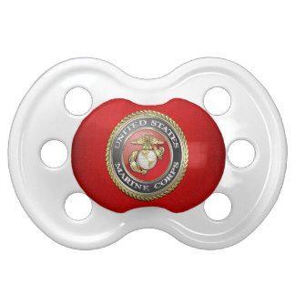 U.S. Marine Corps (USMC) Emblem [3D] Baby Pacifiers