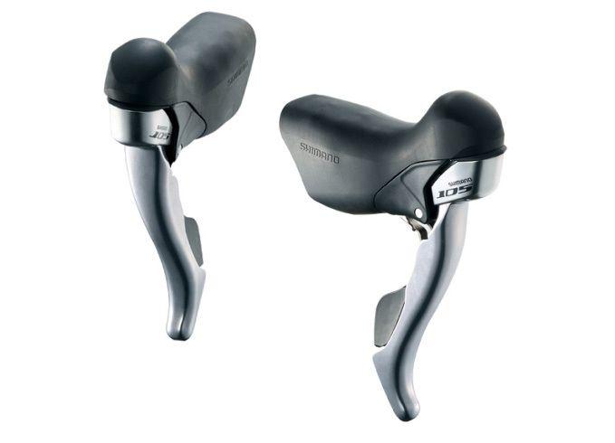 Shimano 105 5700 Road Bike STI Gear / Brake Levers - Silver