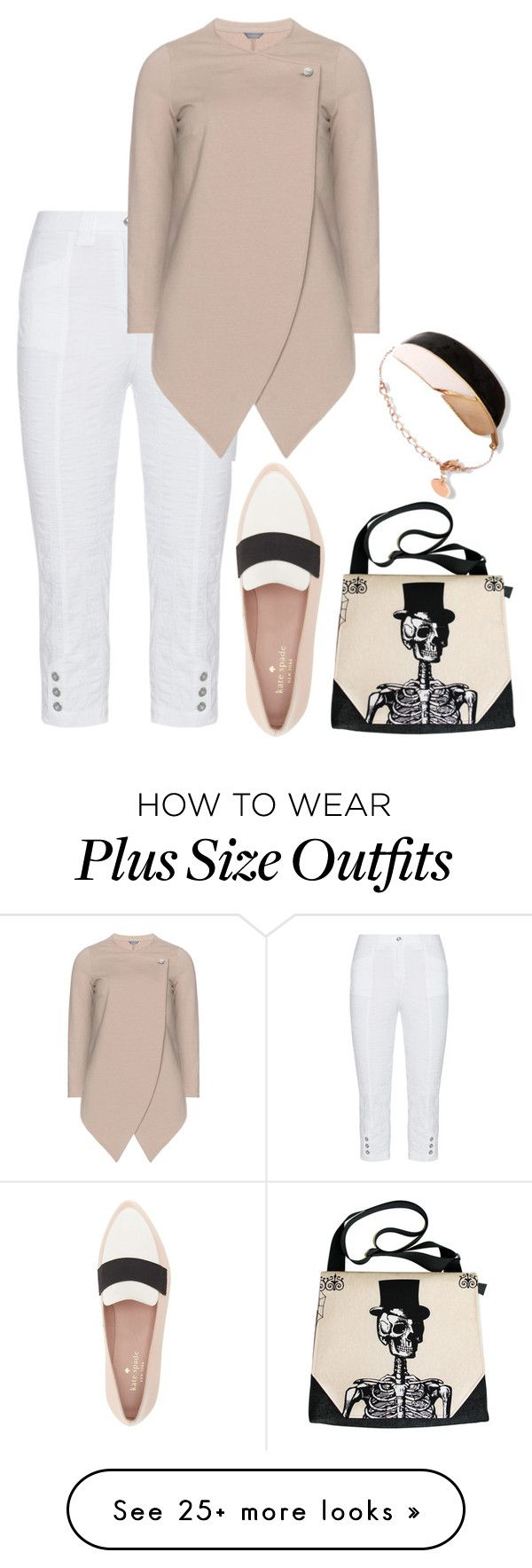 """plus size millie"" by aleger-1 on Polyvore featuring KJ Brand and Kate Spade"