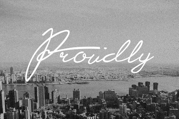 Proudly Signature Script by TSV Creative on @creativemarket