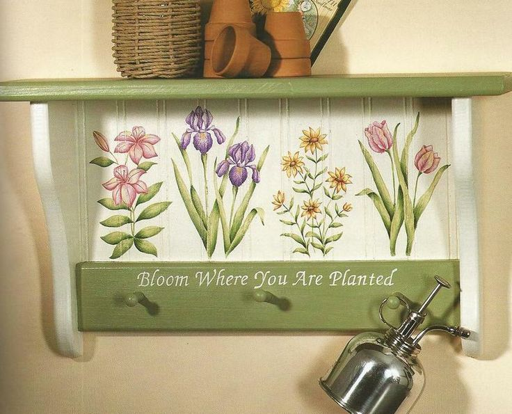 Creative Shelves to Paint by Tasha Yates Decorative Painting Craft Book