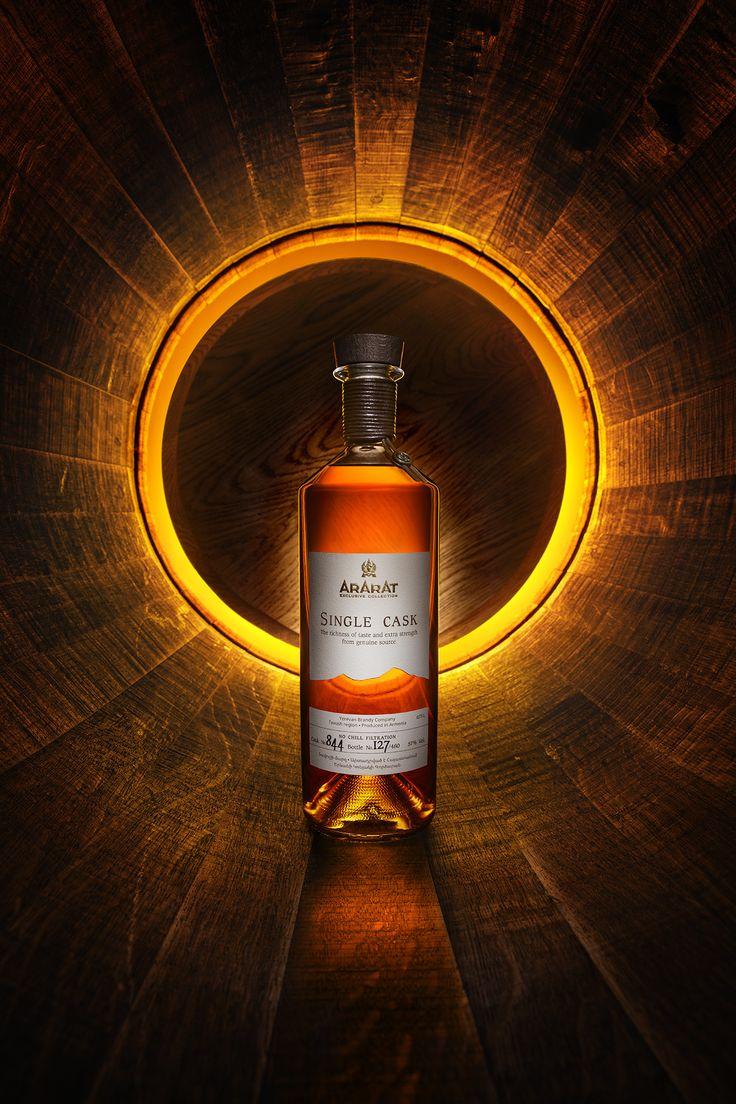 ARARAT Single Cask #moodshot #brandy #packaging #barrel #cask #ybc #cognac #armenia #bottle #sun #amber