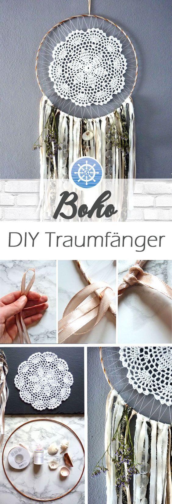 Boho DIY Dream Catcher ganz einfach selber machen – DIY Anleitung via aye-aye-diy ….   – Basteln mit kindern