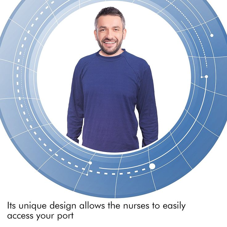 Comfy Care Port Accessible Shirt | Chemo Shirt | Chemotherapy Gift | Cancer Gift at Amazon Men's Clothing store: