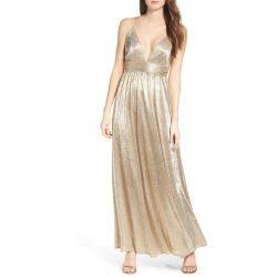 New offer for LULUS Metallic Maxi Dress fashion online. [$116 ]?@@>>sladress shop<<