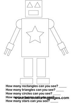 preschool robot coloring pages - photo#38