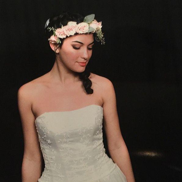 Pink Rose Floral Crown | Floral Halo | Floral Headband | Larkspur Botanicals