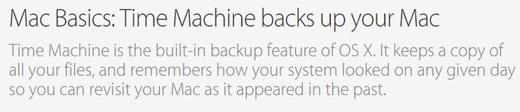 Mac Basics: Time Machine backs up your Mac - Apple Support