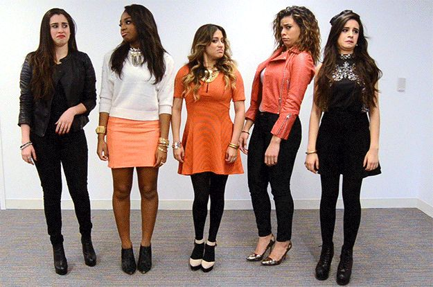 You are Britney Spears and you just found out your team didn't make it through the next round: | All The Fifth Harmony Reaction GIFS You'll Ever Need