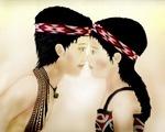 Maori hongi (kiss) Traditional kiss is nose to nose
