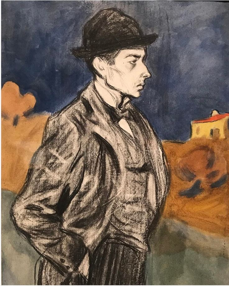 This painting is from the first Picasso's exhibition in Barcelona around 1898-99, he's clearly inspired by Toulouse-Lautrec already and he'll follow this style on his first visit to Paris