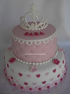 Prinsessen tiara taart