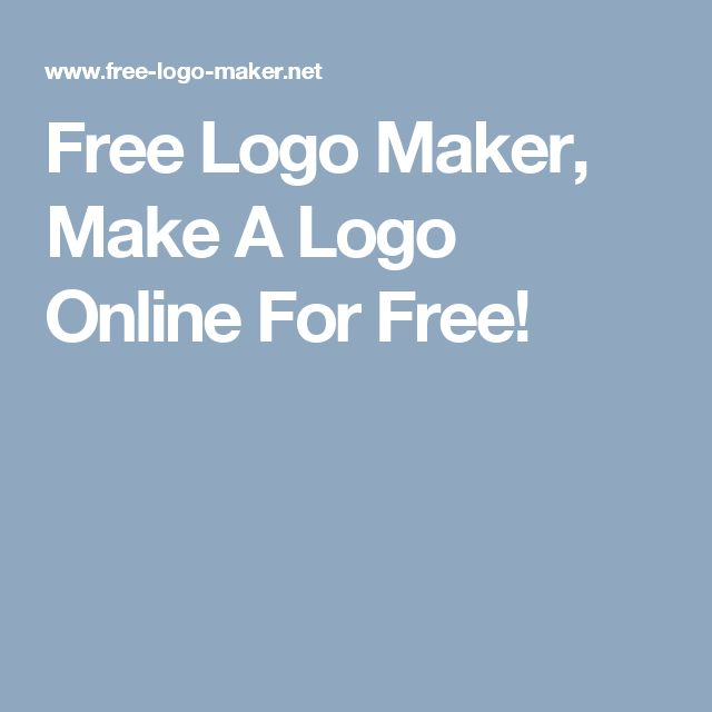 Free Logo Maker, Make A Logo Online For Free!