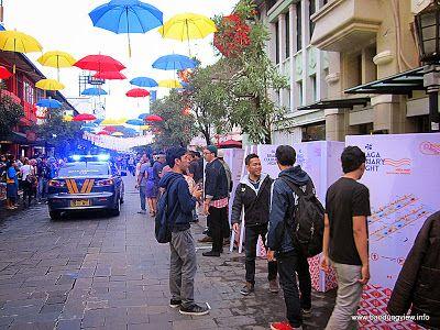 Braga Culinary Night - mobil polisi di jalan braga