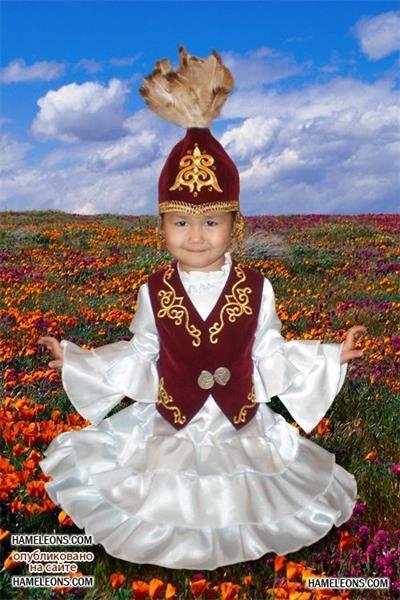 Казахский костюм на девочку
