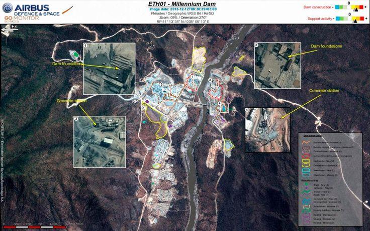 ethiopia's renaissance dam | GO Monitor | Pléiades Satellite Image - Millenium Dam, Ethiopia - 12 ...