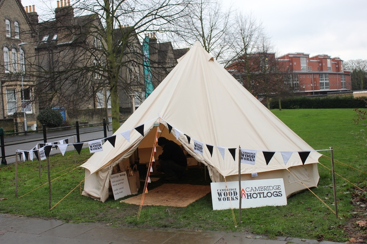 Our @soulpad bell tent with 'blaze' wood burning stove at Mill Road Winter Fair 2012