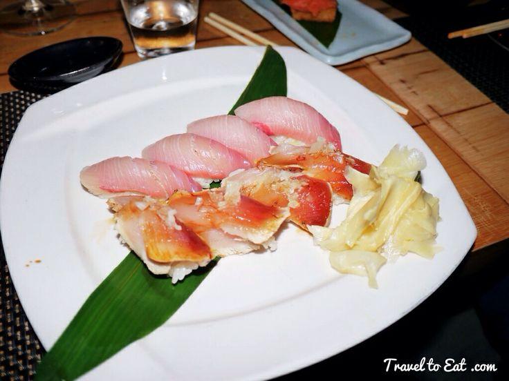 Yellowtail and Albacore Tuna. Sushi Roku. Santa Monica, California