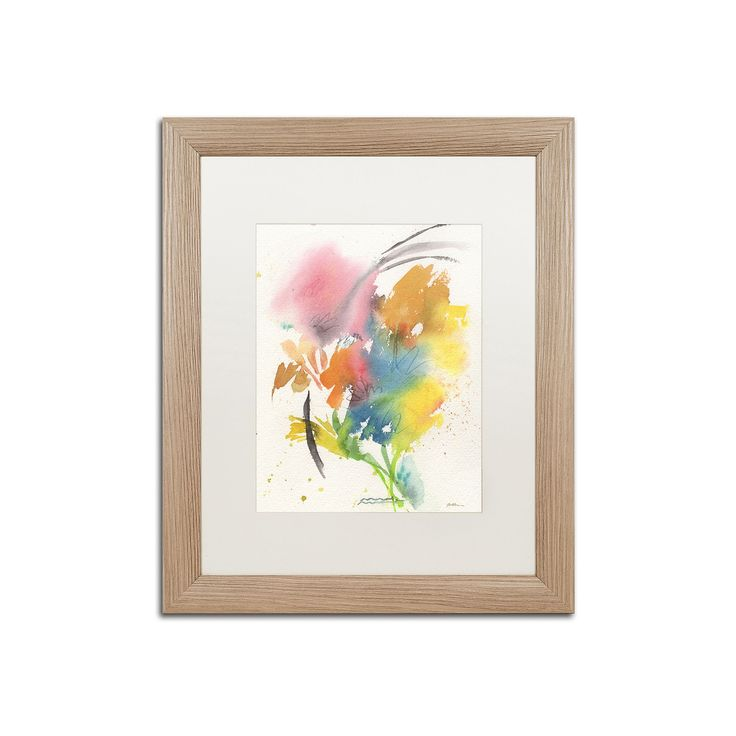 Trademark Fine Art Rainbow Bouquet Light Finish Framed Wall Art, Multicolor