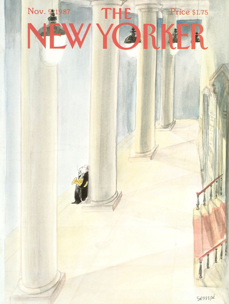 "The New Yorker - Monday, November 9, 1987 - Issue # 3273 - Vol. 63 - N° 38 - Cover by : ""Sempé"" - Jean-Jacques Sempé"