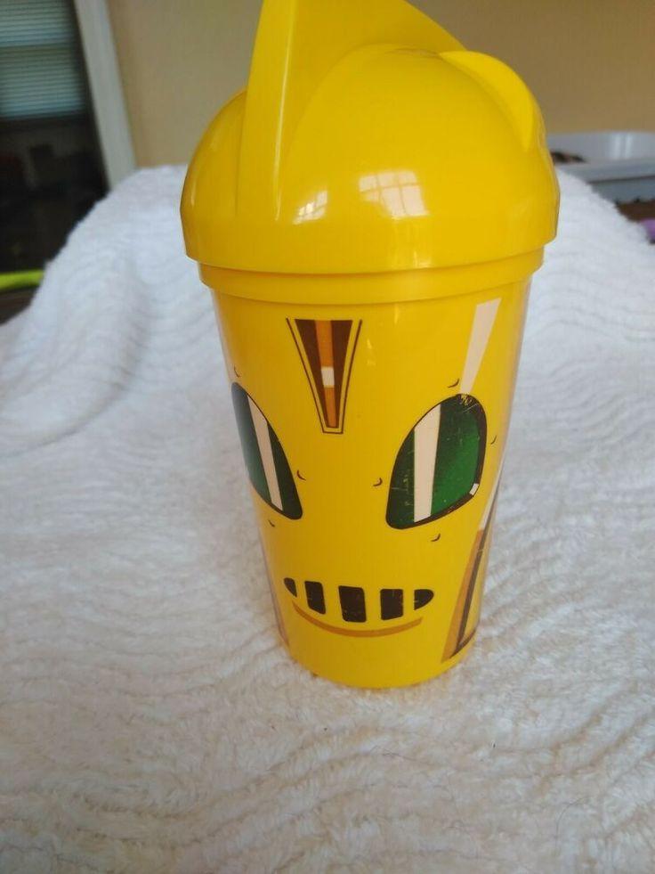 VTG 1991 Pizza Hut The Rocketeer Cup Kunststoff 90er Jahre Childs Fast-Food-Spielzeug gelb