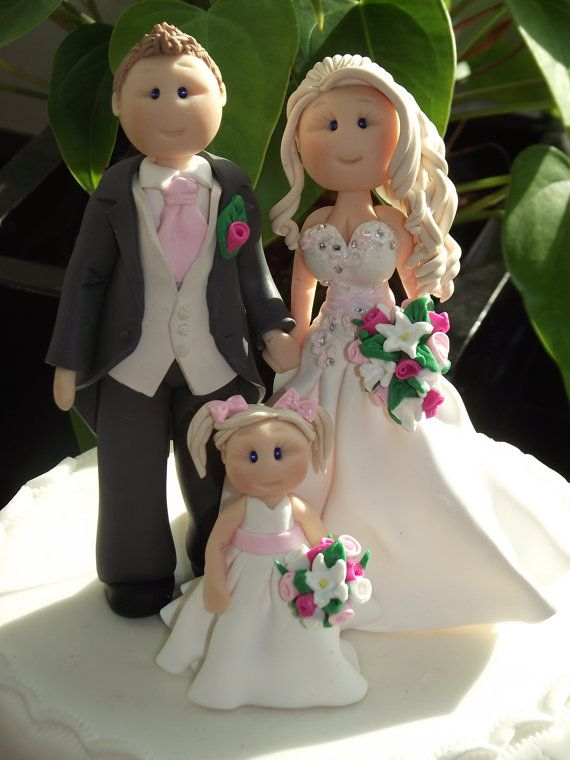personalised bride groom & child wedding by babytracyscaketopper, £85.00