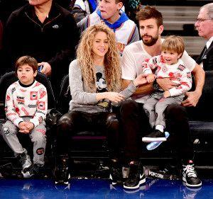 Shakira Gerard Pique and Kids Enjoy Knicks Game on Christmas Day