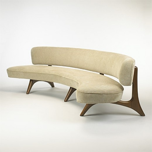 Curved Floating Sofa: Vladimir Kagan / Floating Seat And Back Sofa