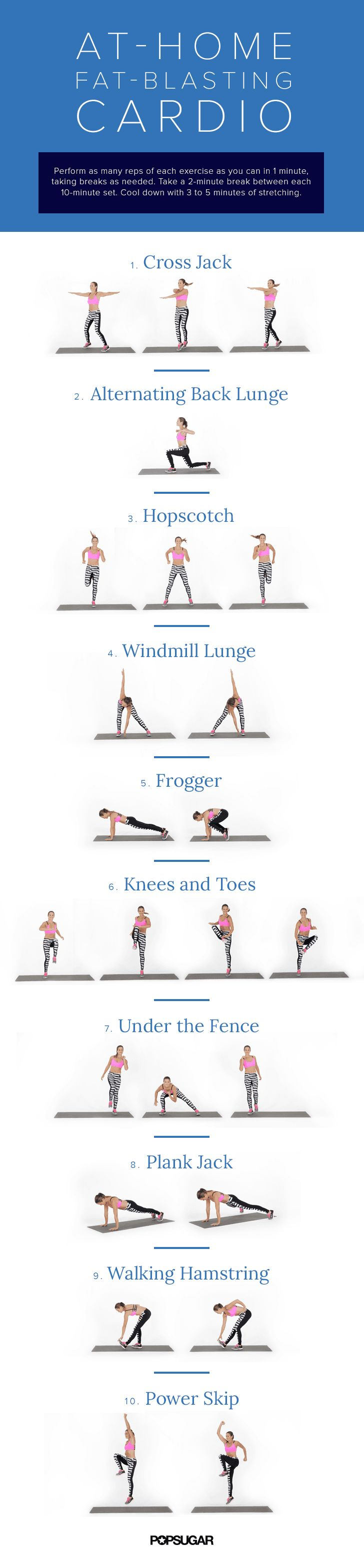 At-Home Cardio Workout | POPSUGAR Fitness
