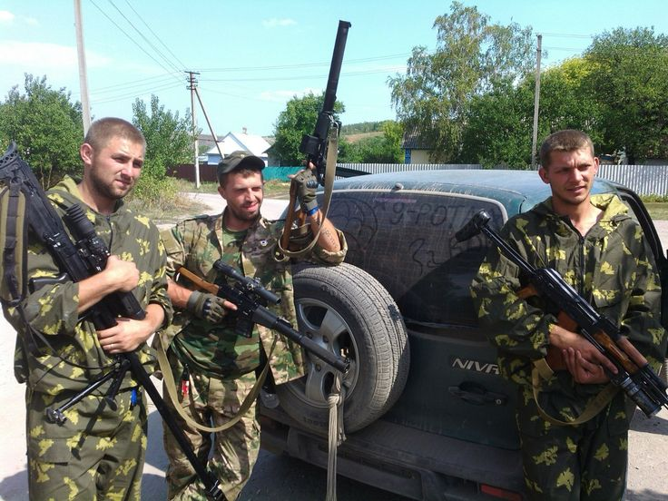 ASVK and VSS sniper rifles used by pro-russian separatists in Donbass.
