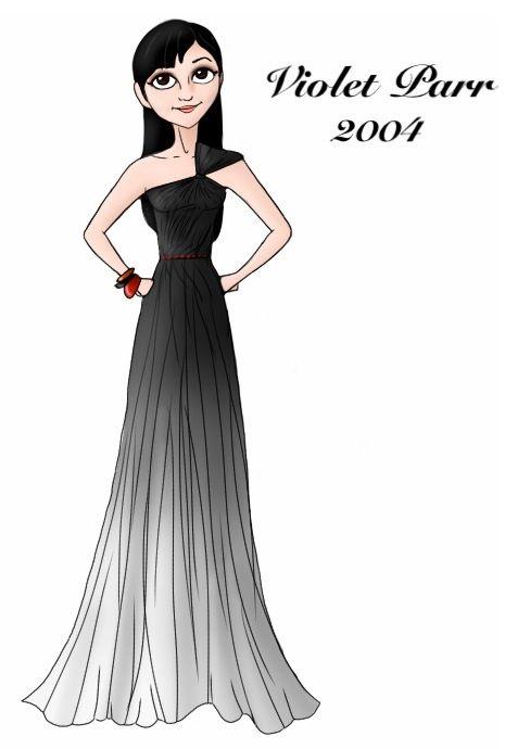 Violet Parr designer gown by ruletheworldwithsong on DeviantArt