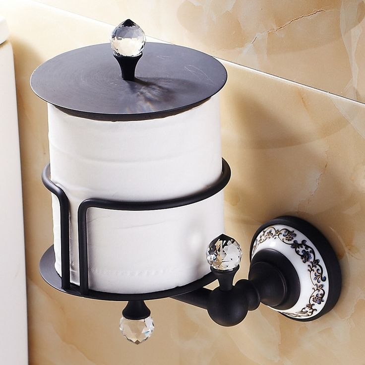 brass toilet paper holder luxury polished roll holder round base bathroom accessories products