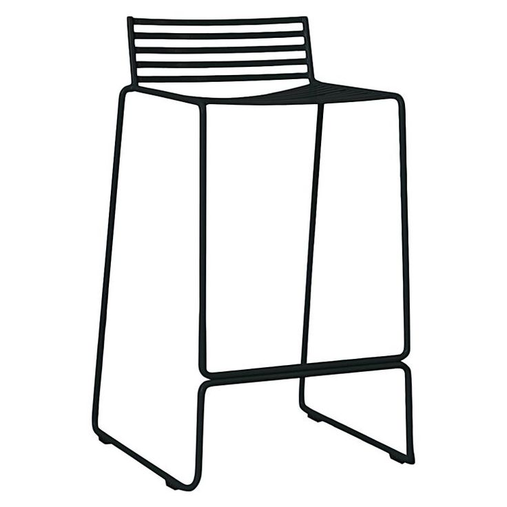 Opt for convenient and stylish design to cater for seating for your guests with the stackable Studio Wire Bar Stool, Black from Life Interiors.