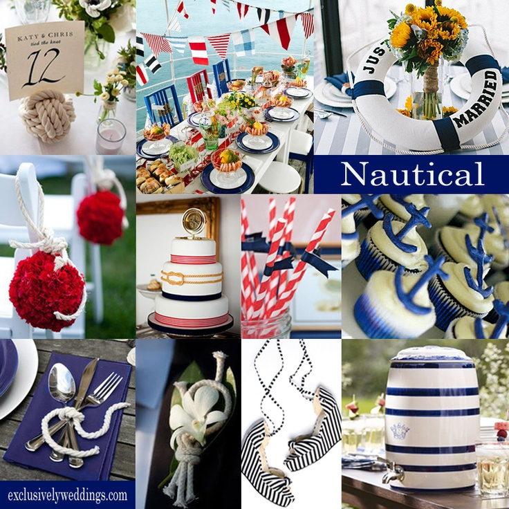 Nautical Wedding Colors Typically Are Red White And Blue Often The