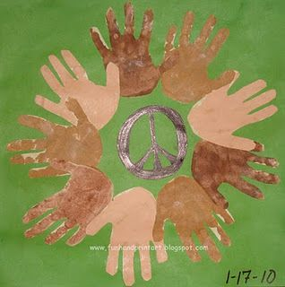 Handprint Unity Wreath for a Martin Luther King Day Craft