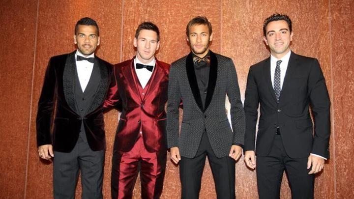 Dani Alves, Messi, Neymar & Xavi #Barcelona FC #Ballon D'or