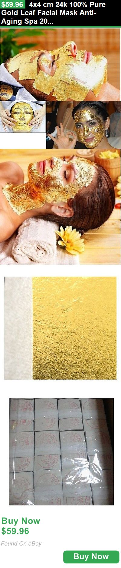 Skin Care 78123: 4X4 Cm 24K 100% Pure Gold Leaf Facial Mask Anti-Aging Spa 200 Sheets BUY IT NOW ONLY: $59.96