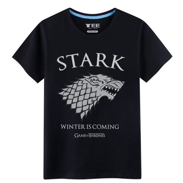 Fair price 2017 Sprimh&Summer Games of Throne House Stark T-shirts for men The Dire Wolf 100% Cotton mens shirts just only $14.90 with free shipping worldwide  #tshirtsformen Plese click on picture to see our special price for you