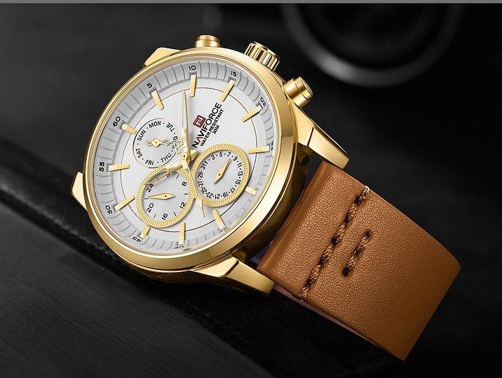 Navi Brn هاشتاغ الساعات البنية ساآعات نآڤي فورس الرجالية ماركة اصلية ١٠٠ اشكال مميزة للذوق ا Wristwatch Men Watches For Men Quartz Watch