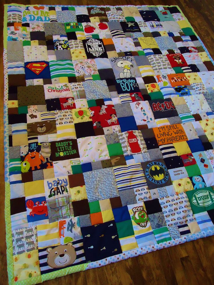 Keep pieces of their old clothes and turn them into a quilt. This would be great as a high school graduation present.