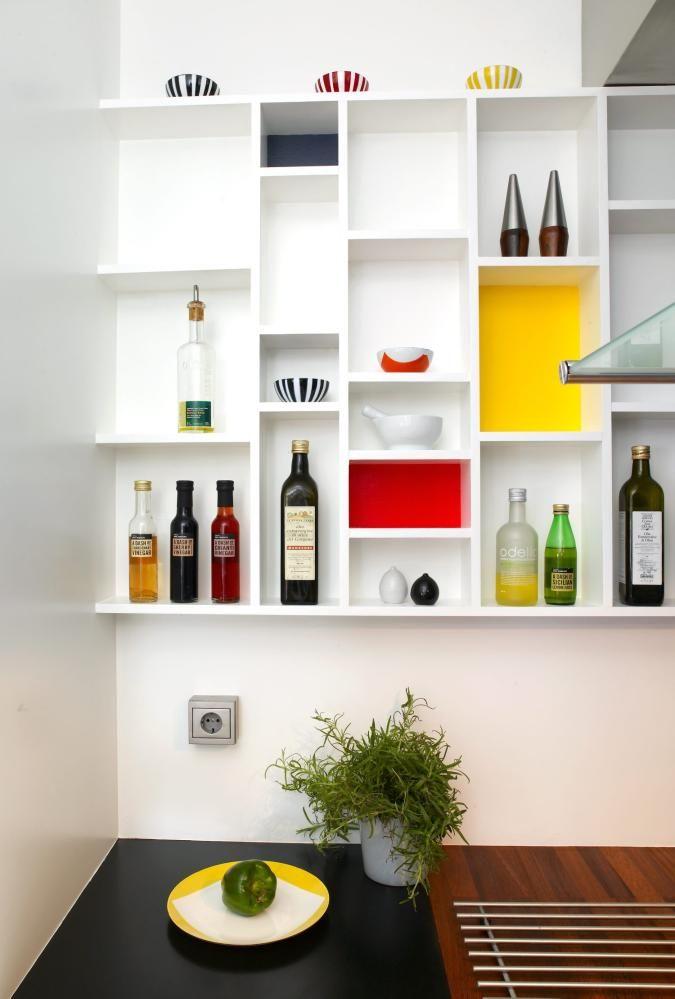 Variasjon åpne kjøkkenhyller