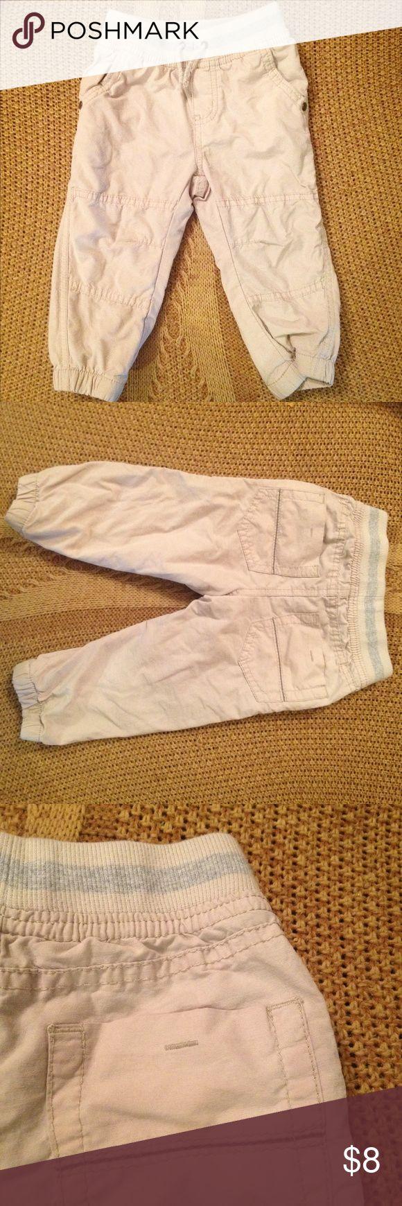 Khaki Tan Boys Jogger Pants, Tan Joggers Tan boys Joggers with comfort waistband Cherokee Bottoms Sweatpants & Joggers