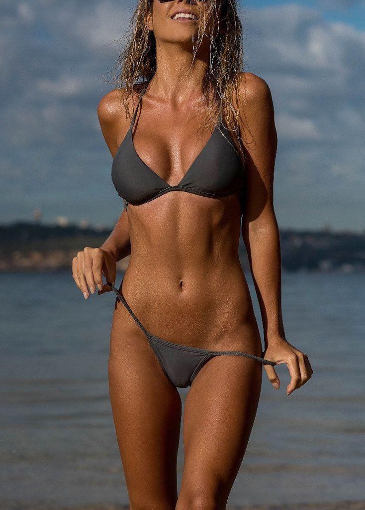 Women's Gray Bikini Bottom - Monte Carlo