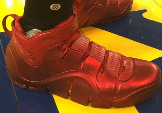 LeBron James Spotted in Red Nike LeBron 4 PE During NBA Finals Practice http://SneakersCartel.com #sneakers #shoes #kicks #jordan #lebron #nba #nike #adidas #reebok #airjordan #sneakerhead #fashion #sneakerscartel