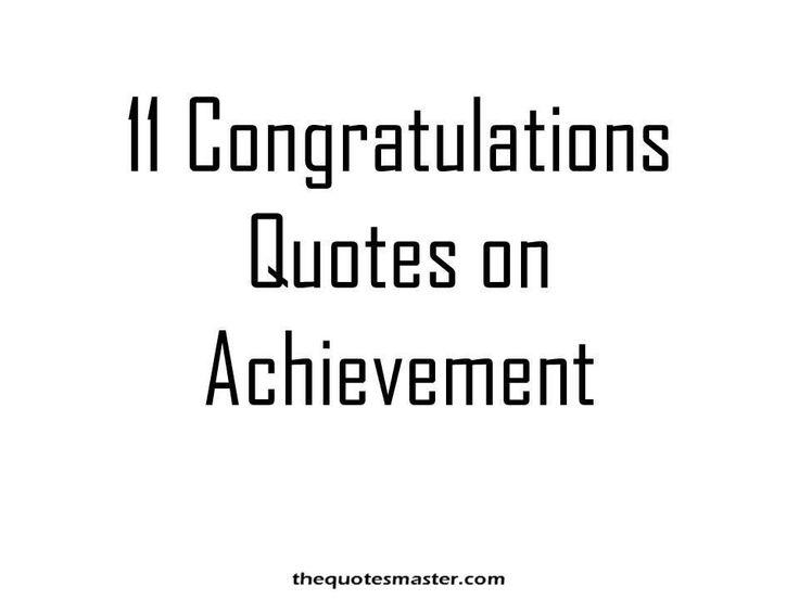 Congratulations quotes on achivement