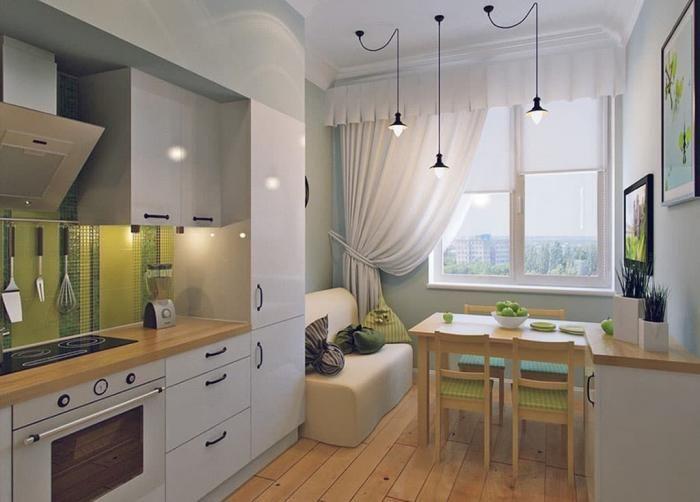 Обустройство кухни 10 кв.м 1