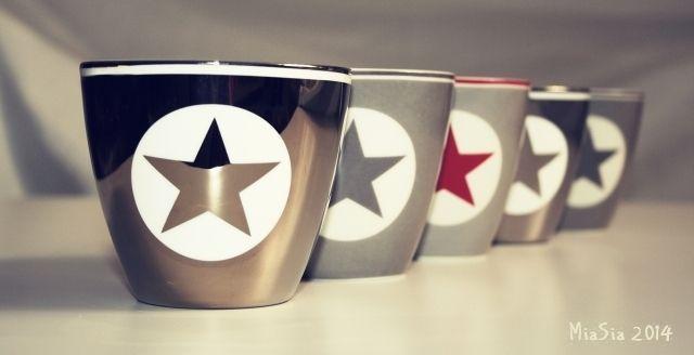 Green Gate latte cup Star Silver / Warm Grey